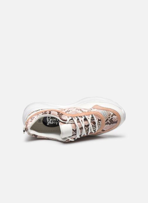 Deportivas I Love Shoes THUNIRA Rosa vista lateral izquierda
