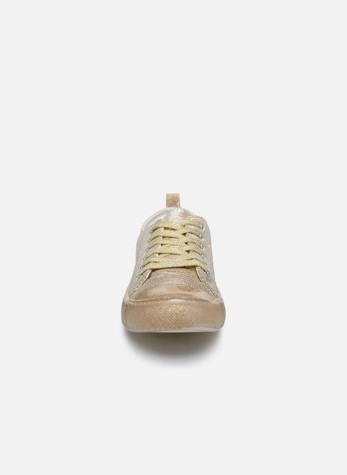 Baskets I Love Shoes THABITA Or et bronze vue portées chaussures