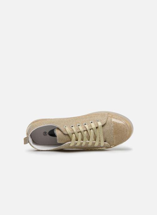 Baskets I Love Shoes THABITA Or et bronze vue gauche