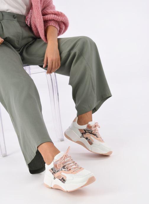 Baskets I Love Shoes THOFFY Blanc vue bas / vue portée sac
