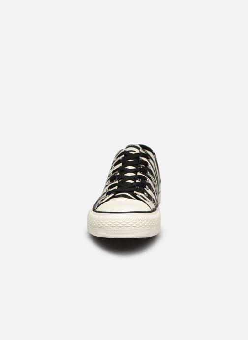 Baskets I Love Shoes THEZEBRA Blanc vue portées chaussures