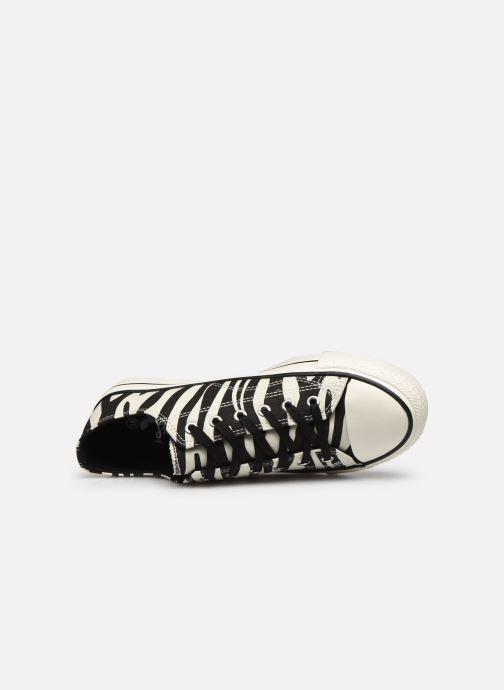 Sneaker I Love Shoes THEZEBRA weiß ansicht von links