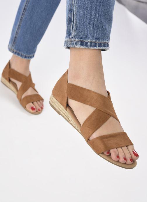 Sandalen I Love Shoes THIXI braun ansicht von unten / tasche getragen