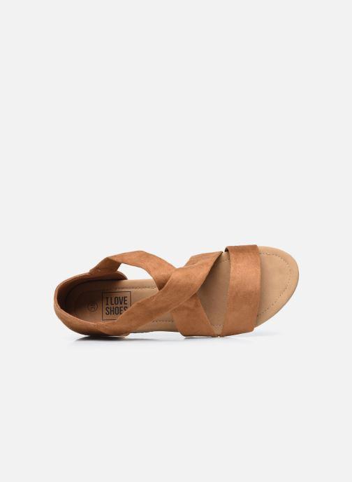 Sandalen I Love Shoes THIXI braun ansicht von links