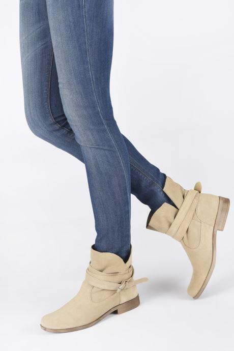 Bottines et boots I Love Shoes THEODOVA Leather Beige vue bas / vue portée sac