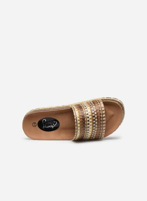 Zuecos I Love Shoes THEBED Marrón vista lateral izquierda