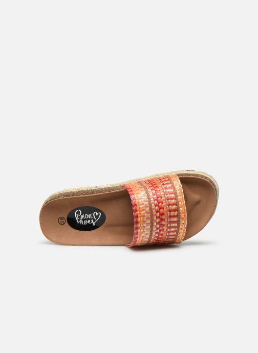 Zuecos I Love Shoes THEBED Naranja vista lateral izquierda