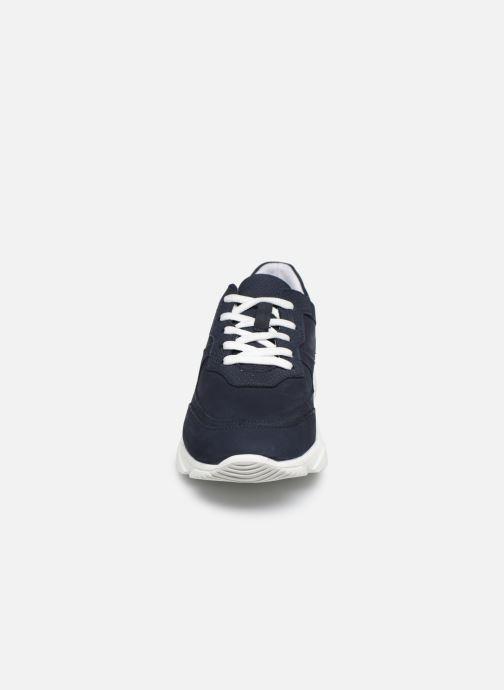 Sneakers I Love Shoes THACITE LEATHER Azzurro modello indossato