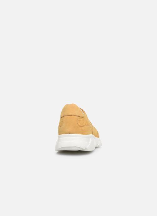 Deportivas I Love Shoes THACITE LEATHER Amarillo vista lateral derecha