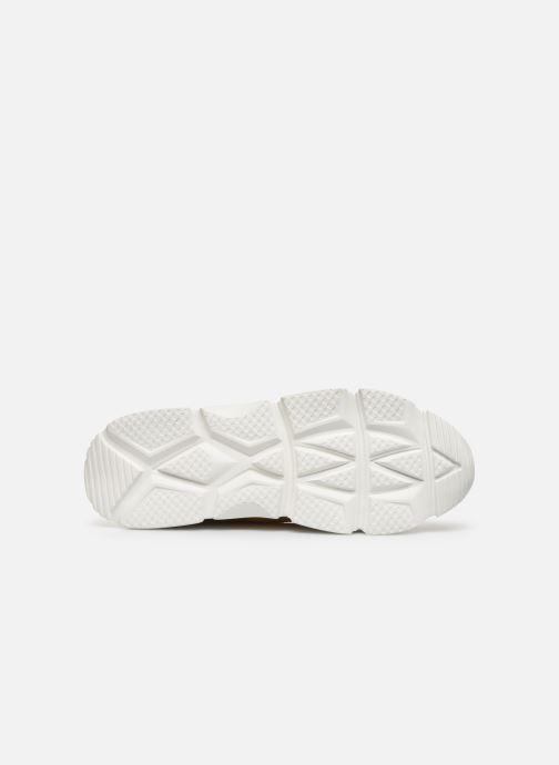 Baskets I Love Shoes THACITE LEATHER Jaune vue haut