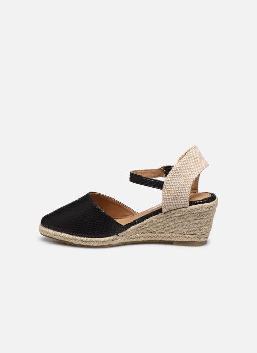 Alpargatas I Love Shoes THAGUE Negro vista de frente