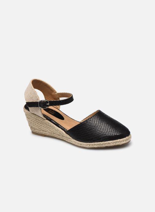 Alpargatas I Love Shoes THAGUE Negro vista de detalle / par