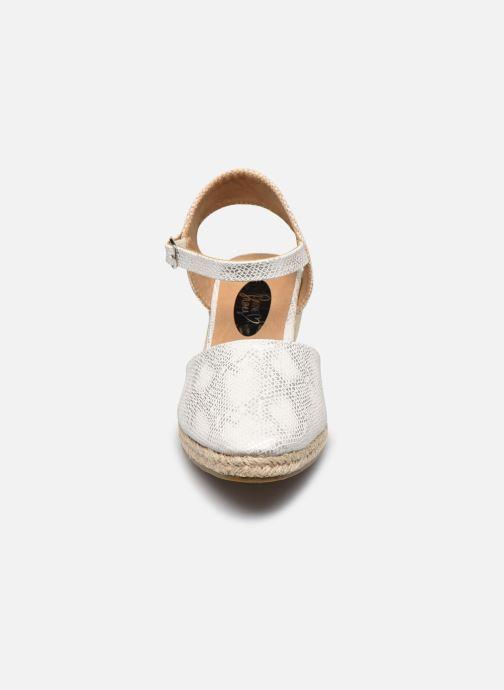 Espadrilles I Love Shoes THAGUE Blanc vue portées chaussures