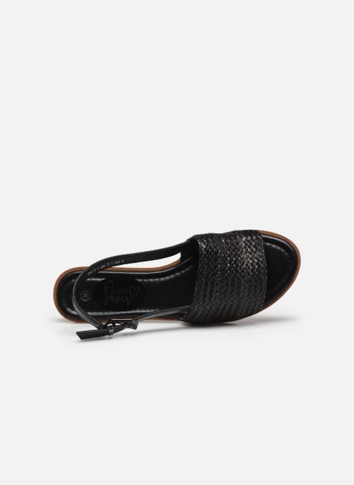 Sandalias I Love Shoes THUMMER Negro vista lateral izquierda