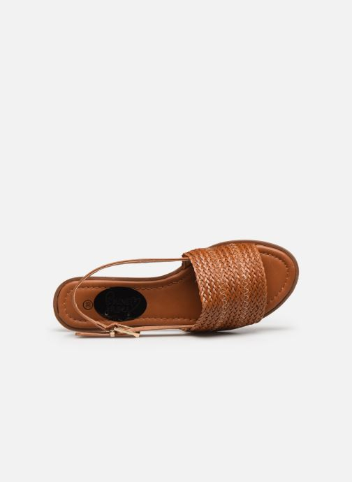 Sandalen I Love Shoes THUMMER braun ansicht von links