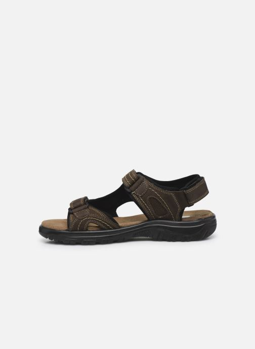 Sandals I Love Shoes THUMO Brown front view