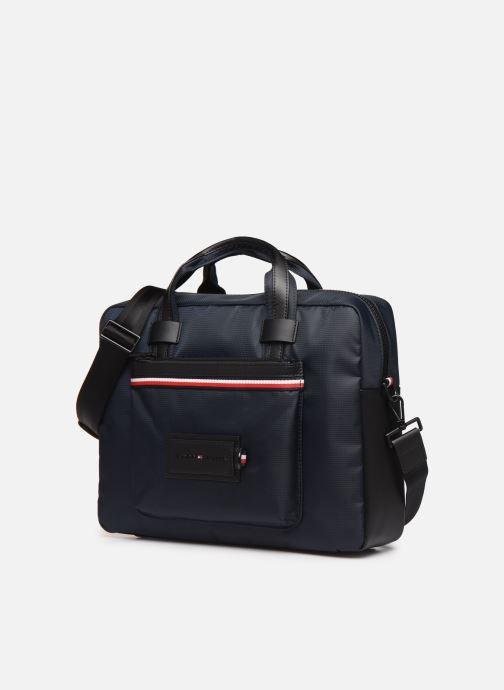 Laptoptaschen Tommy Hilfiger MODERN NYLON CONV COMPUTER BAG blau schuhe getragen