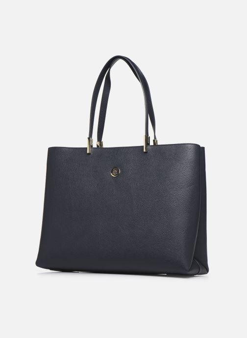 Handtaschen Tommy Hilfiger TH CORE TOTE schwarz schuhe getragen