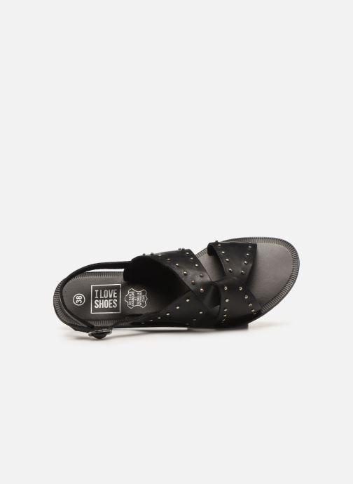 Sandalias I Love Shoes KEPIK Leather Negro vista lateral izquierda
