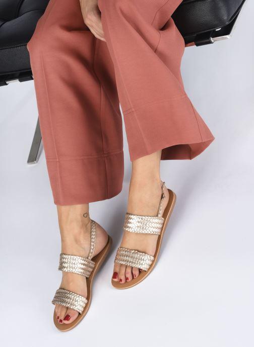 Sandales et nu-pieds I Love Shoes KETRO Leather Rose vue bas / vue portée sac