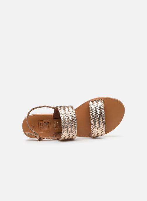 Sandales et nu-pieds I Love Shoes KETRO Leather Rose vue gauche