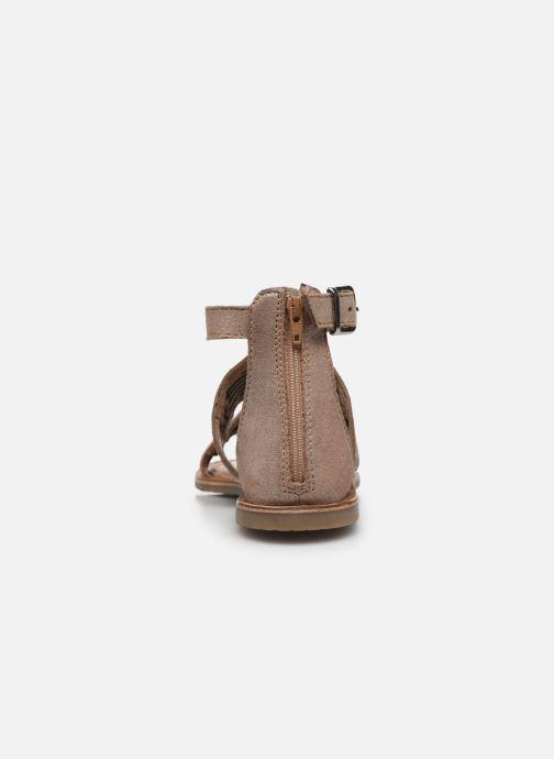 Sandales et nu-pieds I Love Shoes KEPLEIN Leather Beige vue droite