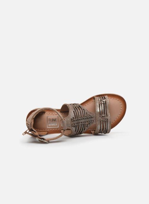Sandales et nu-pieds I Love Shoes KEPLEIN Leather Beige vue gauche