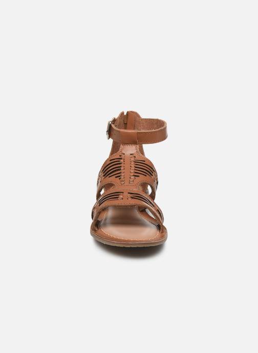 Sandali e scarpe aperte I Love Shoes KEPLEIN Leather Marrone modello indossato