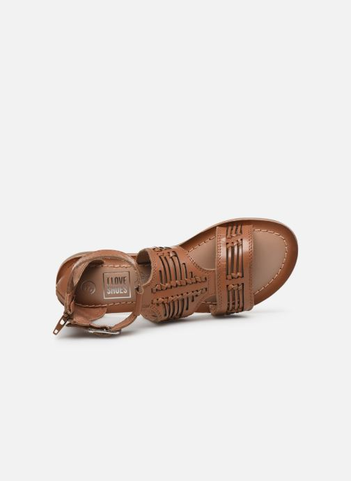 Sandalias I Love Shoes KEPLEIN Leather Marrón vista lateral izquierda