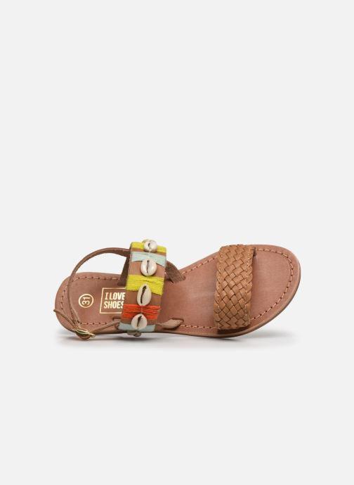 Sandalias I Love Shoes KESHELL Leather Marrón vista lateral izquierda