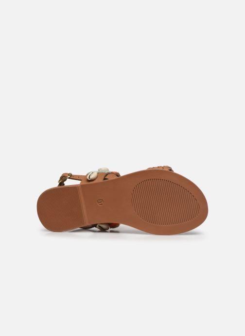 Sandalias I Love Shoes KESHELL Leather Marrón vista de arriba