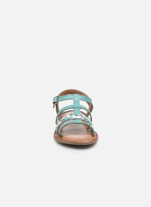 Sandali e scarpe aperte I Love Shoes KETCHI Leather Azzurro modello indossato
