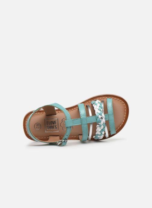 Sandalias I Love Shoes KETCHI Leather Azul vista lateral izquierda