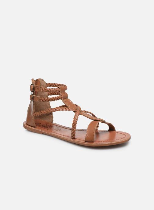 Sandales et nu-pieds I Love Shoes KELOU Leather Marron vue détail/paire