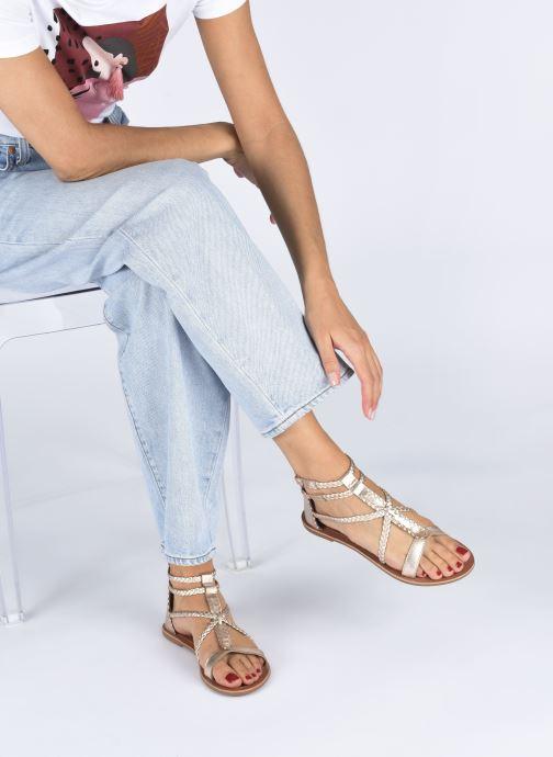 Sandales et nu-pieds I Love Shoes KELOU Leather Rose vue bas / vue portée sac