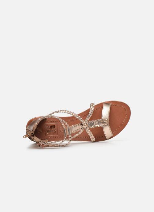 Sandales et nu-pieds I Love Shoes KELOU Leather Rose vue gauche