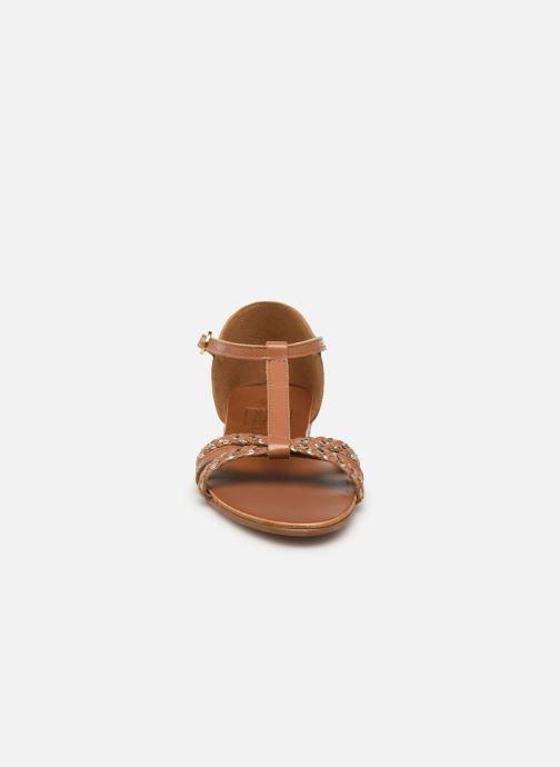 Sandales et nu-pieds I Love Shoes KESSIQUE Leather Marron vue portées chaussures