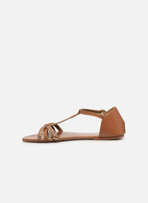Sandales et nu-pieds I Love Shoes KESSIQUE Leather Marron vue face