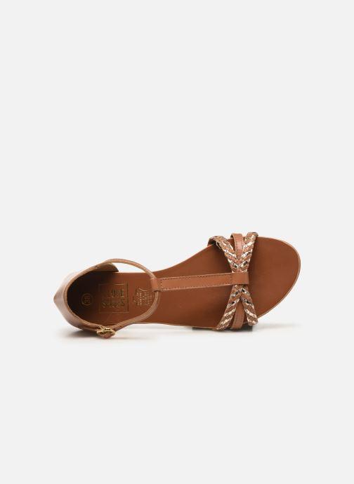Sandales et nu-pieds I Love Shoes KESSIQUE Leather Marron vue gauche