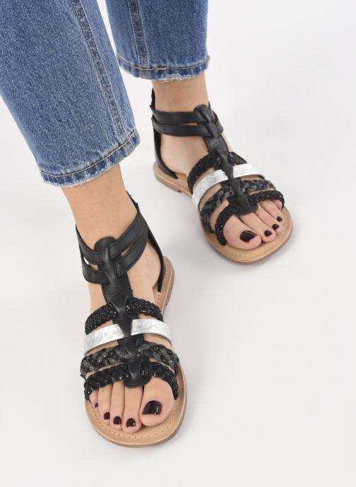 Sandali e scarpe aperte I Love Shoes Ketina Leather W Nero immagine dal basso