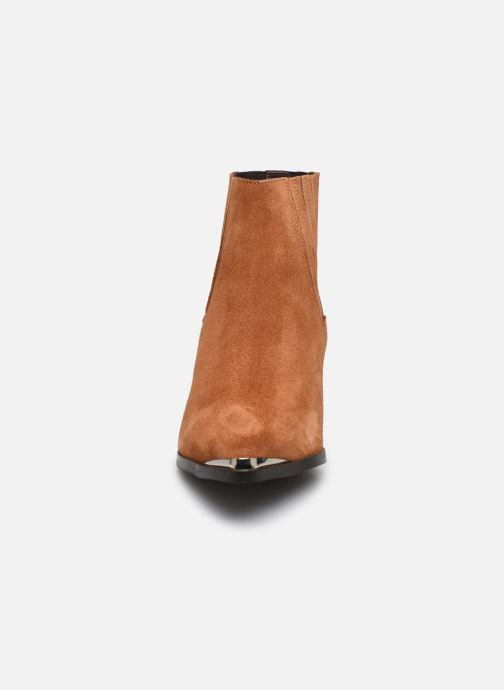 Botines  Vero Moda Vmaja Leather Boot Marrón vista del modelo