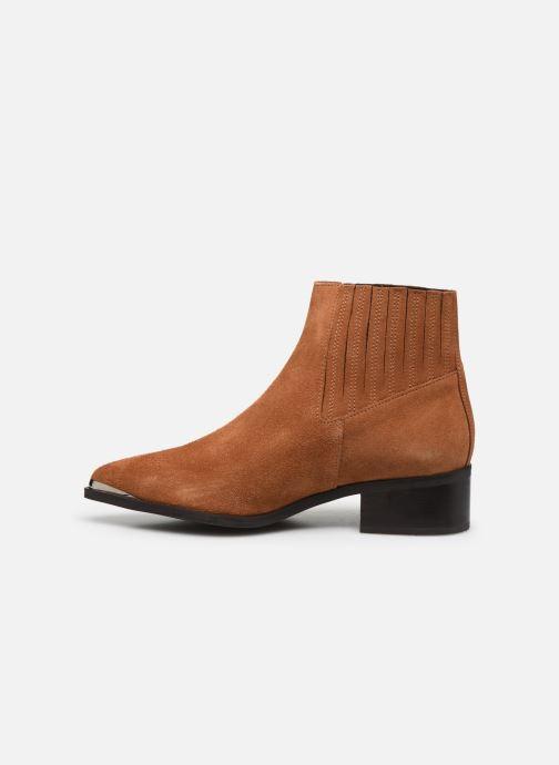Stiefeletten & Boots Vero Moda Vmaja Leather Boot braun ansicht von vorne