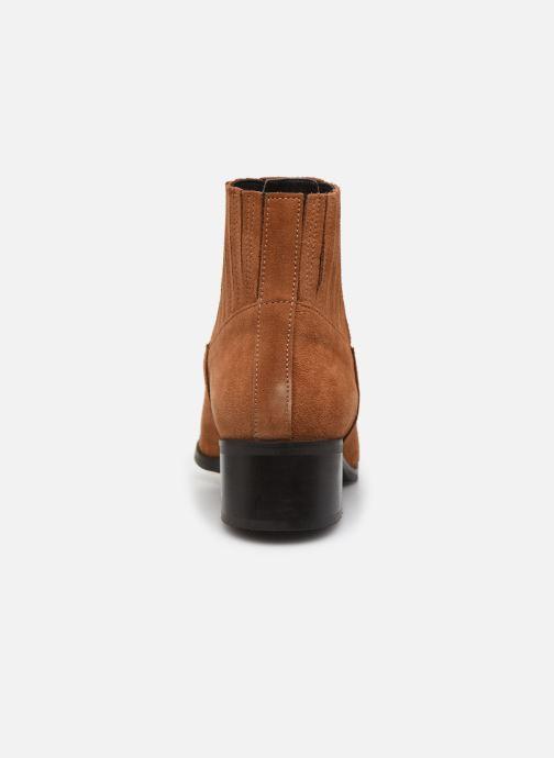 Botines  Vero Moda Vmaja Leather Boot Marrón vista lateral derecha