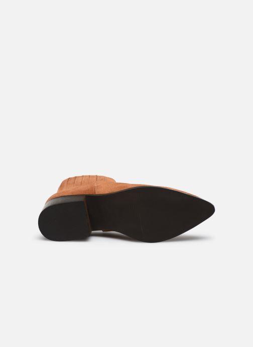Botines  Vero Moda Vmaja Leather Boot Marrón vista de arriba