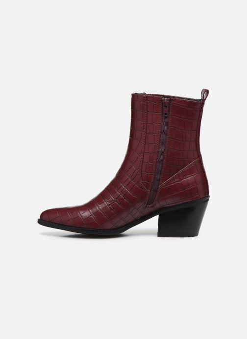 Ankle boots Vero Moda Vmtoa Boot Burgundy front view