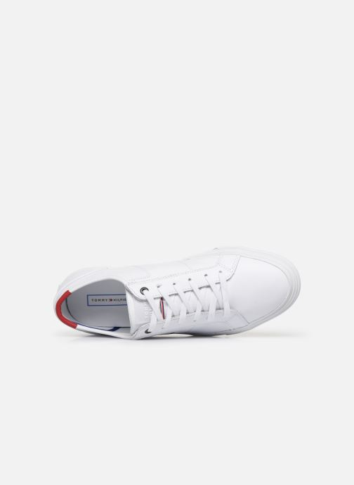 Baskets Tommy Hilfiger CORE CORPORATE FLAG SNEAKER Blanc vue gauche