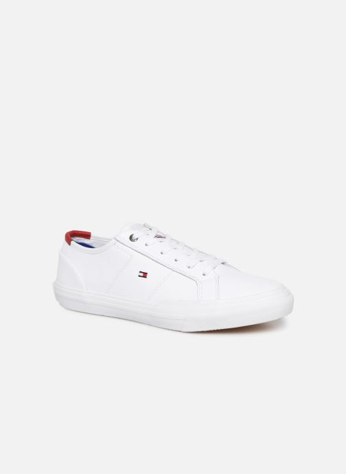 Baskets Tommy Hilfiger CORE CORPORATE FLAG SNEAKER Blanc vue détail/paire