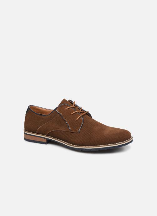 Chaussures à lacets I Love Shoes KESSO LEATHER Marron vue détail/paire