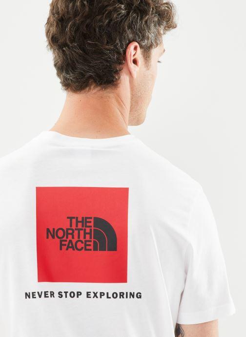 Vêtements The North Face M S/S REDBOX TEE Blanc vue face