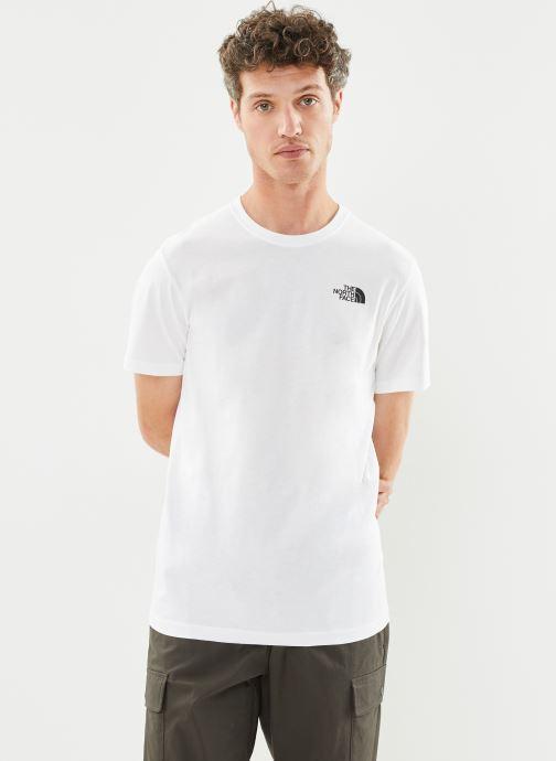 Vêtements The North Face M S/S REDBOX TEE Blanc vue droite